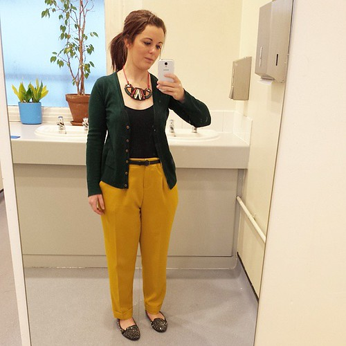 Today's work #outfit :) Tap for brands. Sorry about the bathroom backdrop! #ootd #wiwt #fbloggers #lbloggers