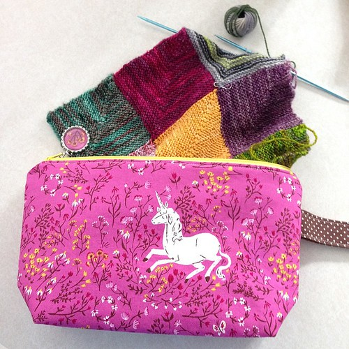 My unicorn bag from @lovesockwool arrived today!! It is gorgeous, Sara, thank you so much! ��