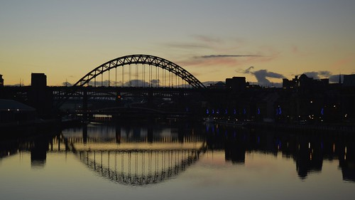 bridge sunset newcastle nikon tyne d3200