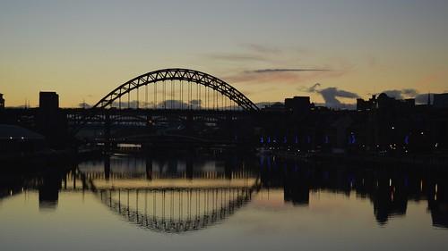 bridge sunset newcastle nikon tyne d3200