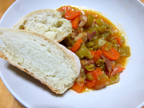Hambone with Lentil and Vegetable soup