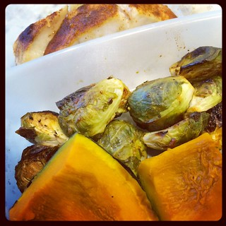 Sablefish, brussels, and kabocha