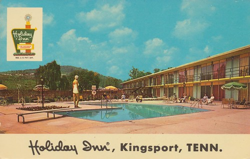 vintage tennessee postcard motel holidayinn kingsport