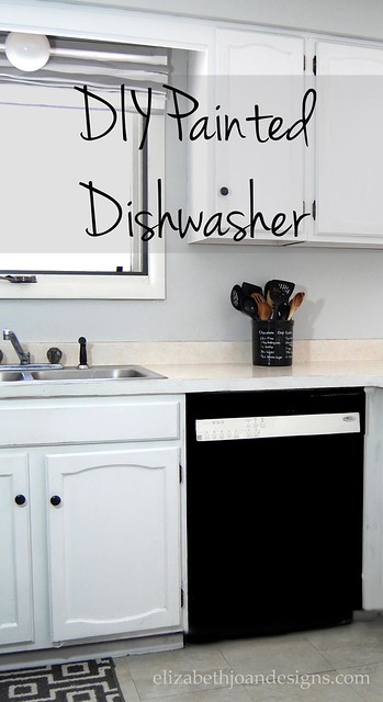 Painted Dishwasher DIY Epoxy