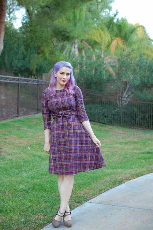 Heart of Haute Mitzi dress in Pendleton Plum 001