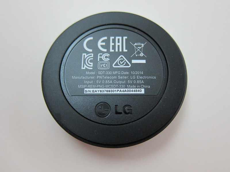LG G Watch R - Magnetic Charger Back