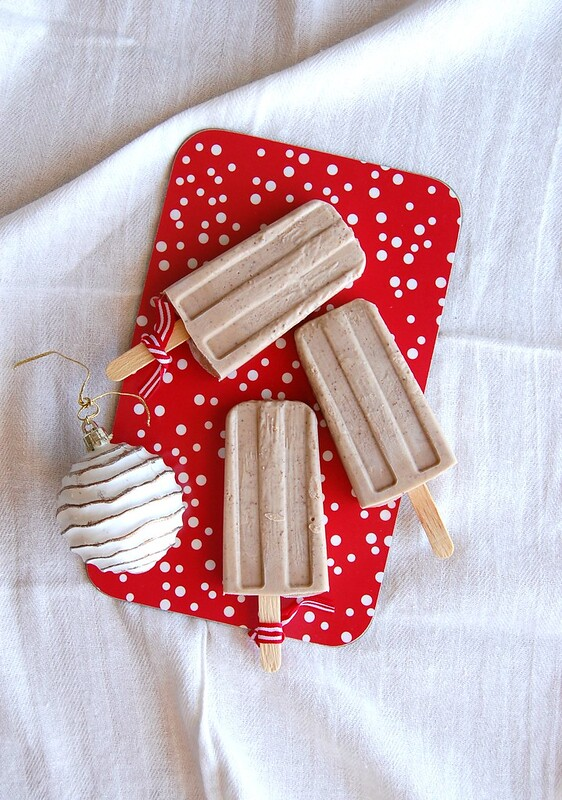 Gingerbread popsicles / Picolés de gingerbread