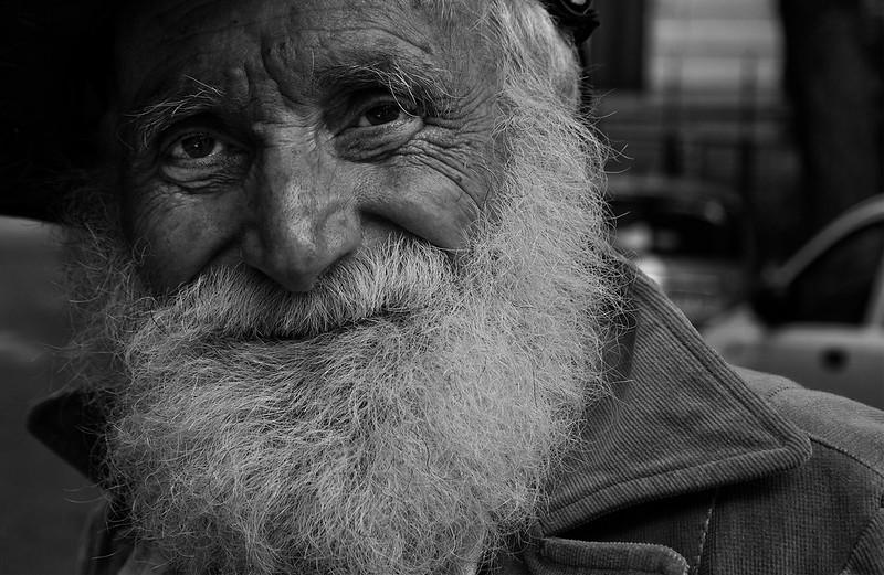 Ritratto di un uomo di strada