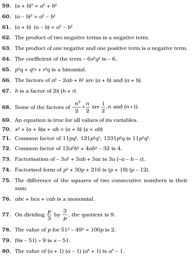 math worksheet : class 8 important questions for maths  algebraic expressions  : Class 8 Maths Worksheets