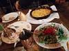 Salmon pâté, bison shepherd's pie and chickpea salad