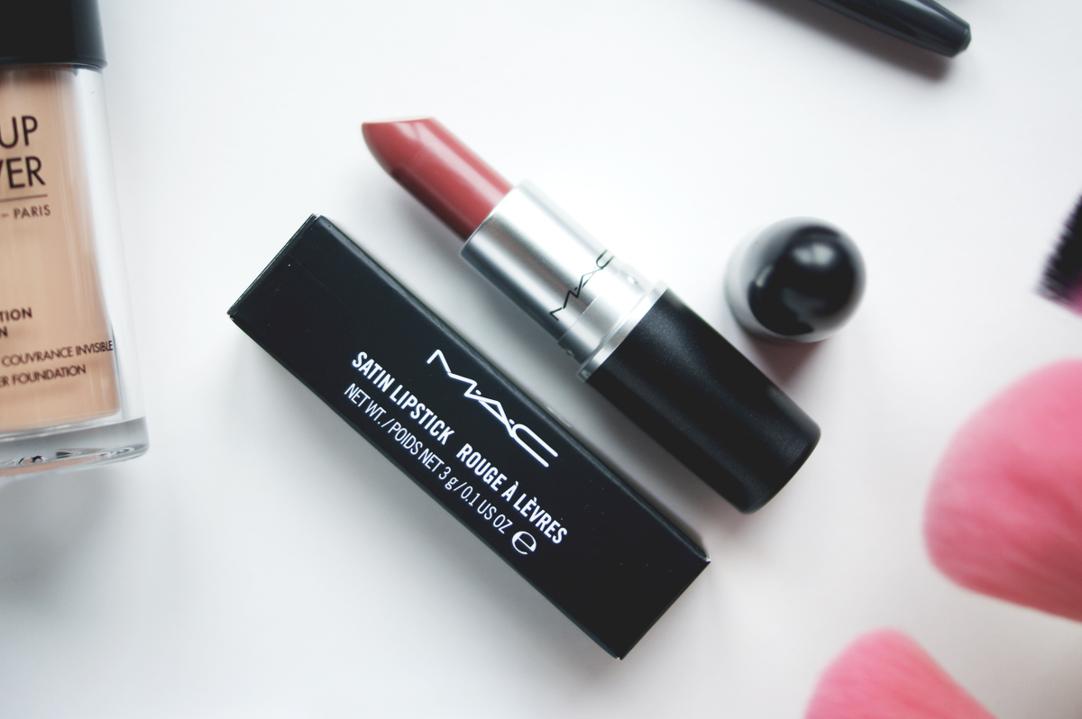 IMATS Toronto makeup beauty haul 2014 mac faux lipstick satin