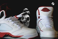 """AJ II """"Cherry"""" & AJ V """"Fire Red""""-1"""