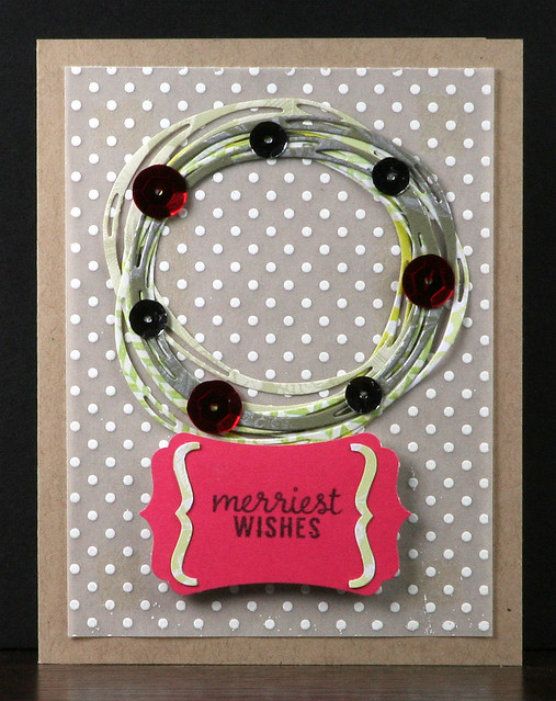 Scribble Die Wreath Card