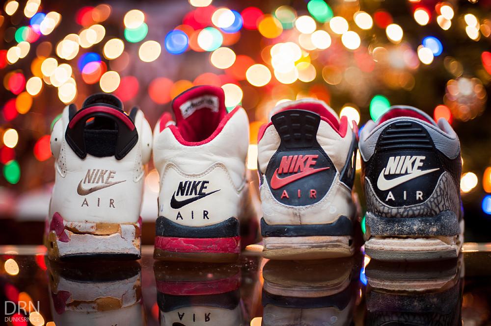 1988, 1989, 1990, & 1991 Air Jordans.