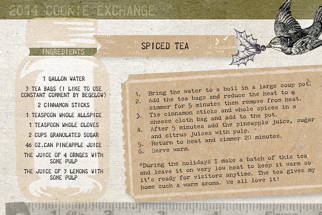 Spiced Tea Recipe Card