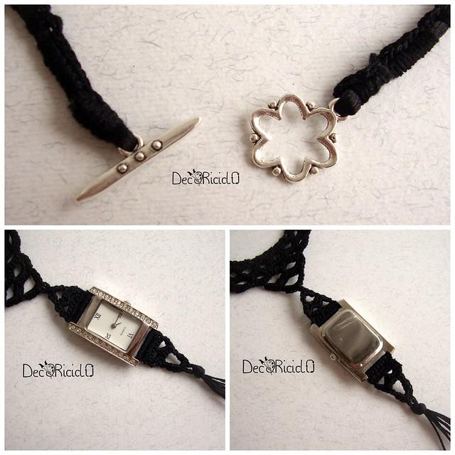orologio collana nera 4
