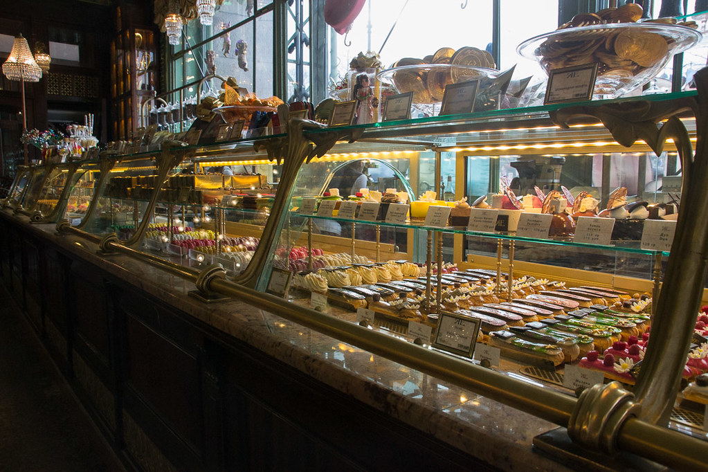 Beautiful food displays in Eliseyev Emporium