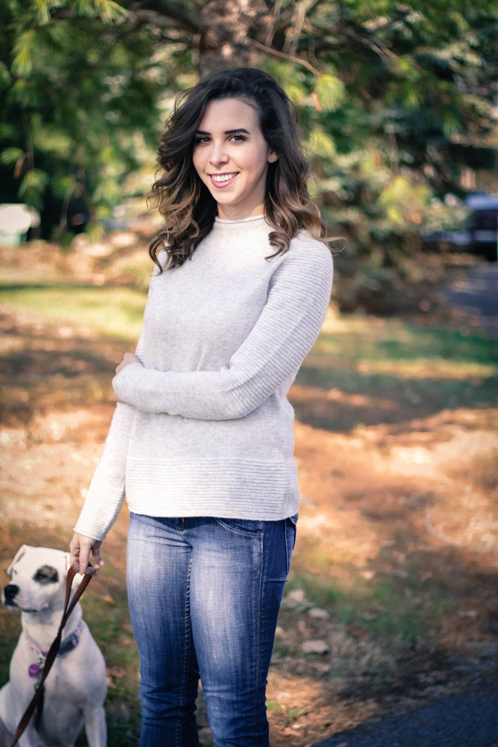 banana republic sweater. hudson jeans. dolce vita booties. casual fall style. rescue dog. adopt a dog.  va darling. 4