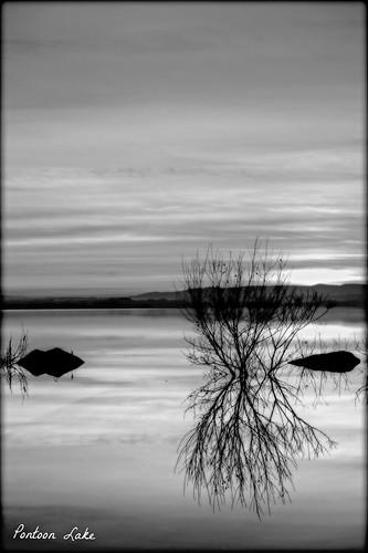 trees ireland sunset lake reflection water rock fuji fujifilm mayo xe1