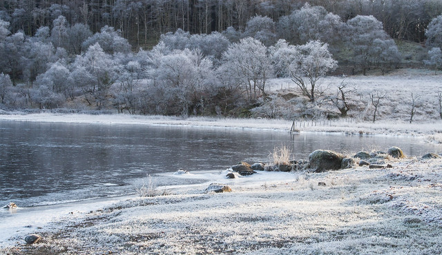 Lochawe shores in winter