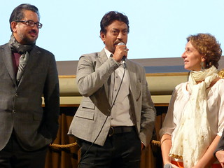 Anup Singh, Irrfan Khan & Selvaggia Velo @River to River. Florence Indian Filmfestival