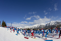 FIS Skiers at CC World Cup Canmore Nordic Centre