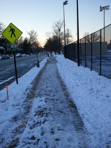 Snow removal at the Takoma Recreation Center