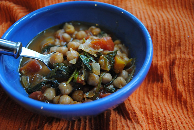 Moroccan Chickpea & Spinach Soup