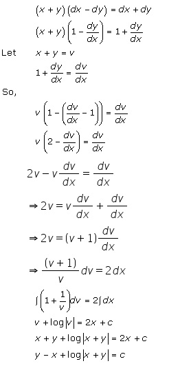 RD Sharma Class 12 Solutions Chapter 22 Differential Equations Ex 22.8 Q9-i