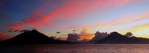 sunset sky sun lake colors clouds lago volcano san guatemala pedro atitlan sanpedro toliman panajachel sonydscwx300