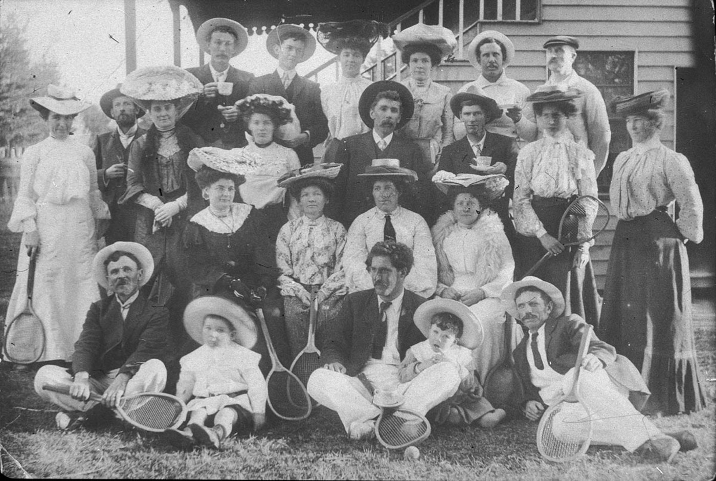 Tennis party at Candelo Park, Candelo, NSW, ca. 1903, photographer unknown