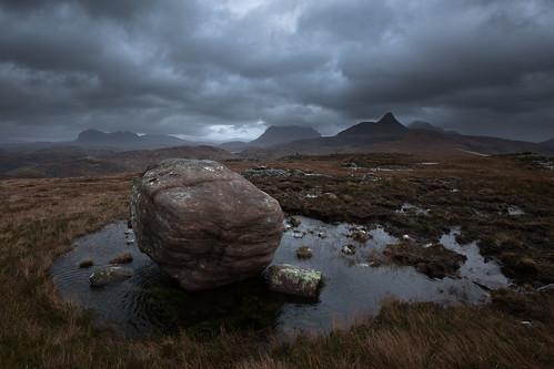 sky weather clouds landscape scotland land assynt