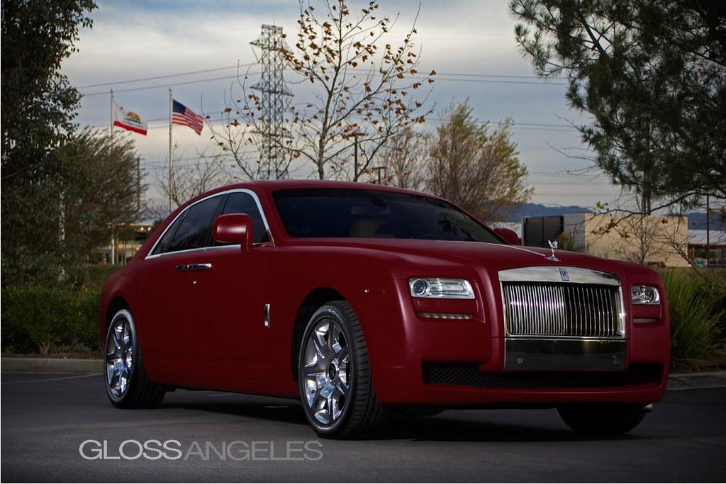 Matte Red Rolls Royce