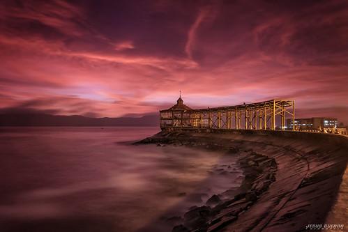 ocean sea seascape beach peru night port landscape mar lima playa callao largaexposicion canon7d jesusguerrafotografia