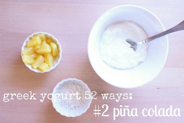 greek yogurt 52 ways: no. 2 piña colada