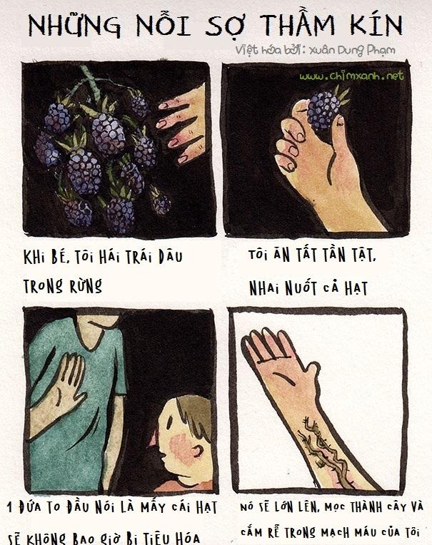 Tranh vẽ Những nỗi sợ hãi thầm kín và sâu tha