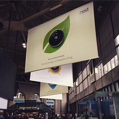 @nest all over south station. #boston #nest #nestprotect #dropcam