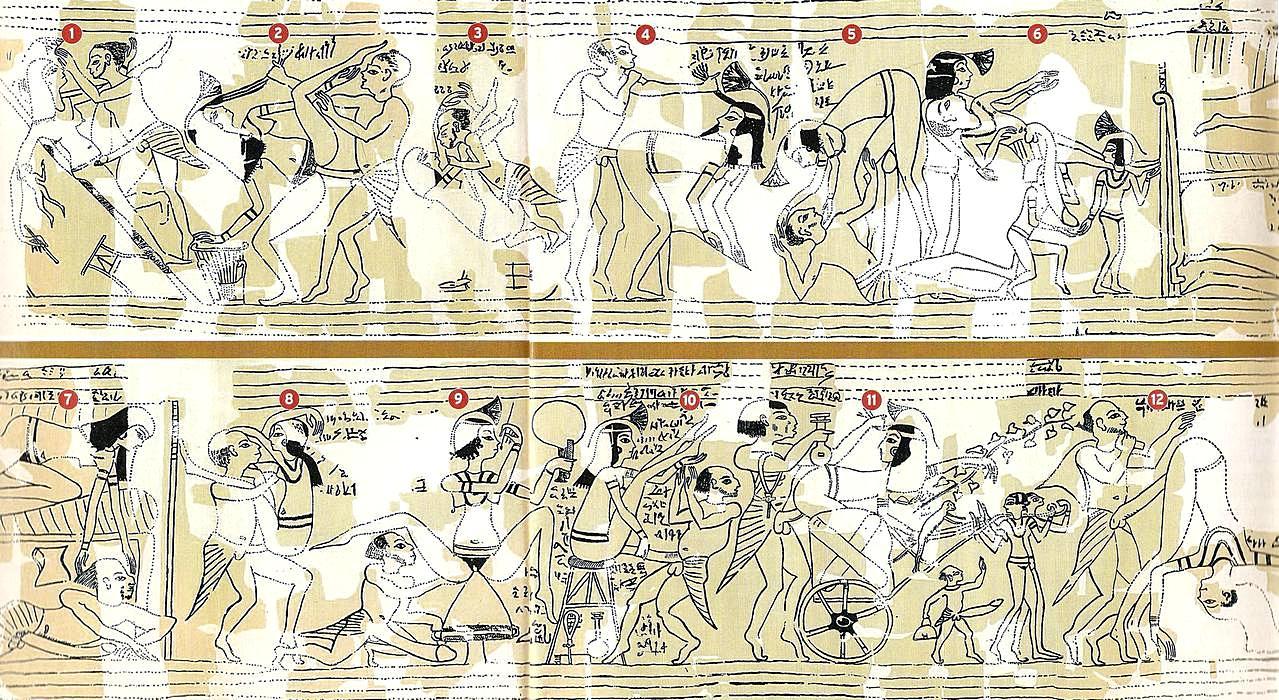 Египетские древнии порно рисунки