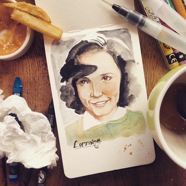 Lorraine Baines. #BTTF #cafepainter