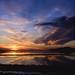 Ibiza - Puesta de sol sobre las salinas de Ibiza