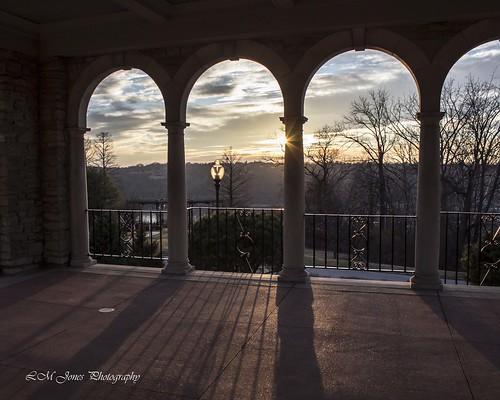 winter sunset cincinnati january pavilion almspark 20150117januaryafternoon