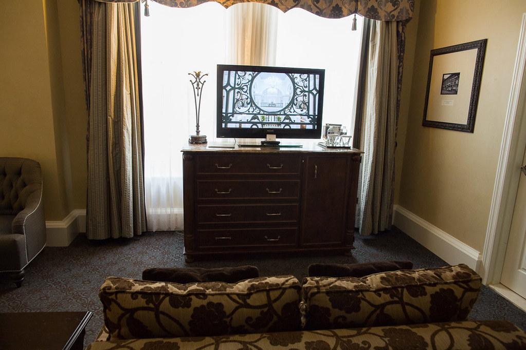 Couch in Hotel Room | Roosevelt Waldorf Astoria