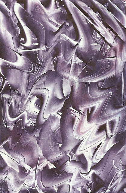 Violet Monoprint
