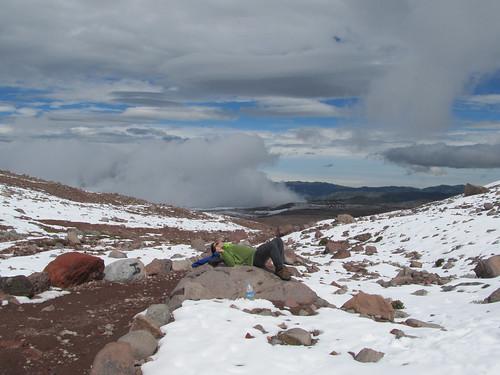 Descente du volcan Chimborazo à vélo: avant le sport, le réconfort... ;)
