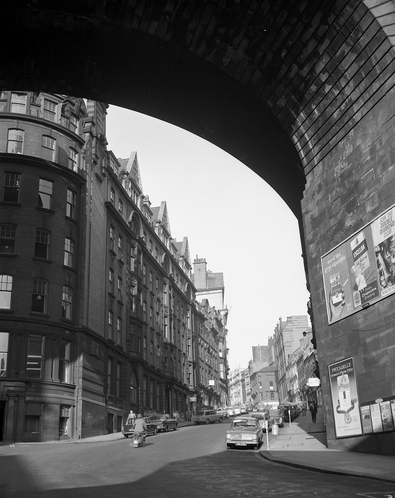 Looking up Dean Street, Newcastle upon Tyne