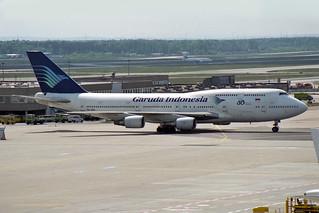 "Garuda Indonesia Boeing 747-4U3 PK-GSG ""50 years sticker"""