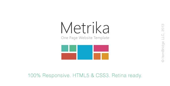 Metrika - Responsive OnePage Template (Update: 4 October 13)