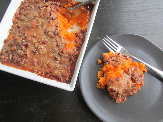 brown sugar pecan sweet potato casserole on twothirtyate.com