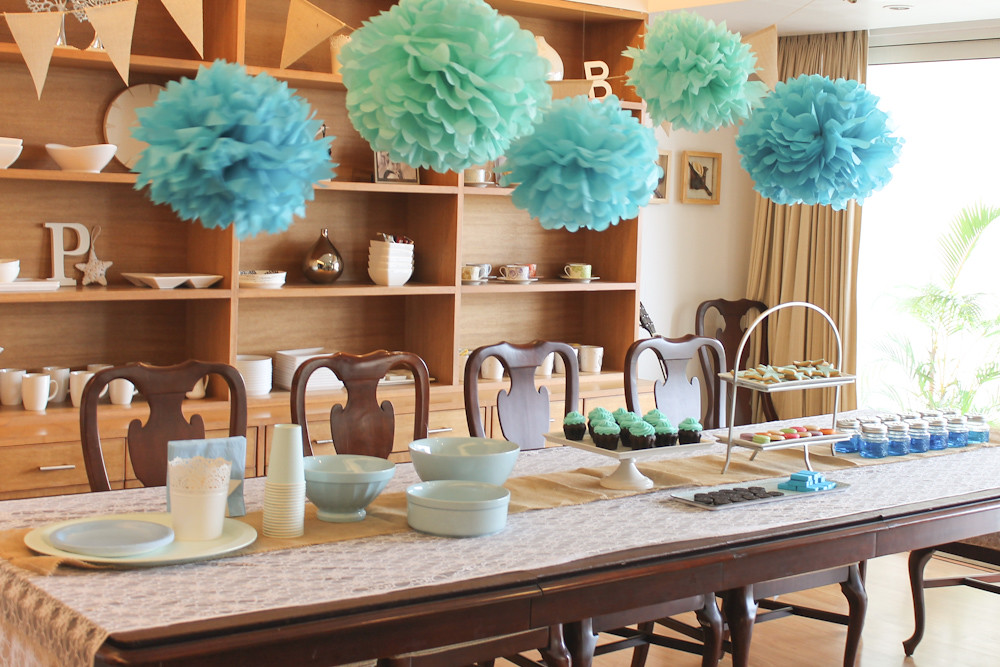 blue themed sleepover birthday party chuzai living. Black Bedroom Furniture Sets. Home Design Ideas