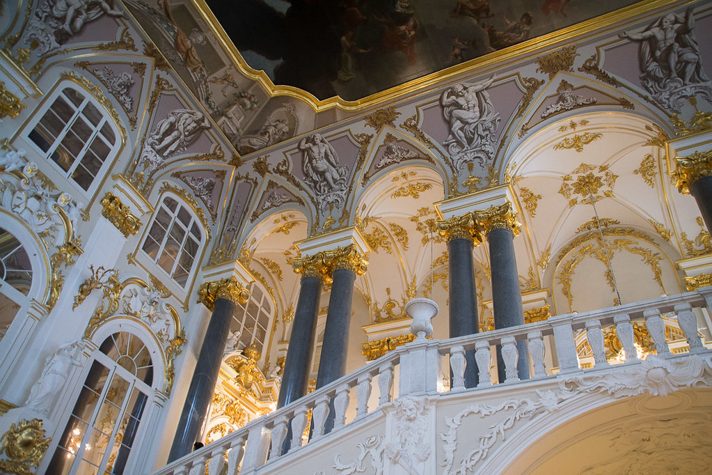 Ornate walls Inside the Hermitage